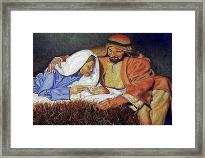 Nativity Scene Framed Print by G Cuffia