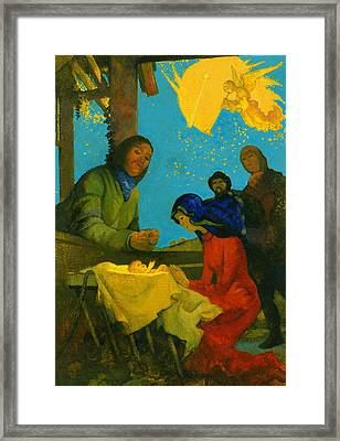 Nativity Scene Framed Print by George Adamson