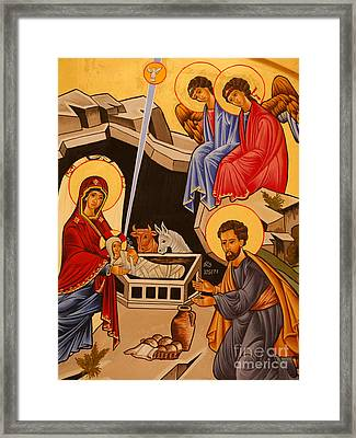 Nativity Scene Framed Print by Italian School