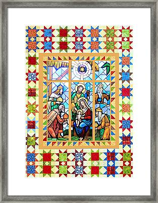 Nativity Stars Framed Print by Munir Alawi