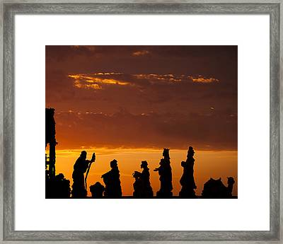 Nativity Sunrise Framed Print by Andrew Soundarajan