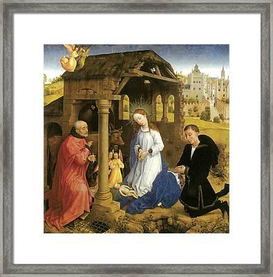Nativity Weyden Framed Print by Rogier Van Der Weyden