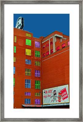 Natty Boh Color Framed Print