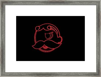 Natty Boh Neon Wink Framed Print