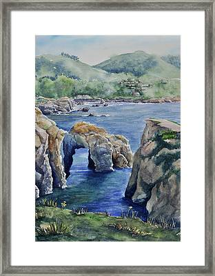 Natural Arch - Carmel Framed Print by Sandy Fisher