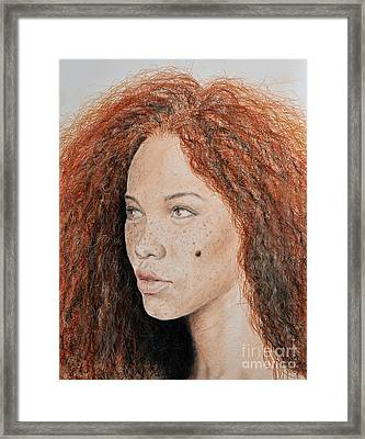 Natural Beauty With Red Hair  Framed Print by Jim Fitzpatrick