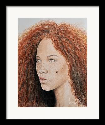 Beauty Mark Mixed Media Framed Prints