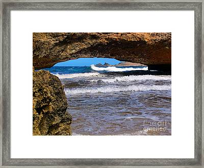 Natural Bridge Aruba Framed Print