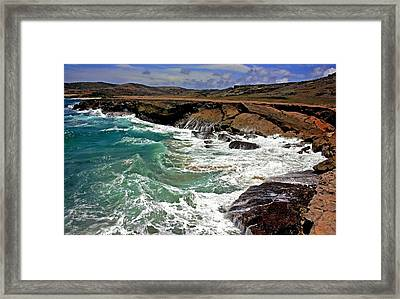 Framed Print featuring the photograph Natural Bridge Aruba by Suzanne Stout