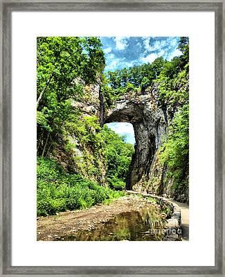 Natural Bridge Framed Print by Kathy Jennings
