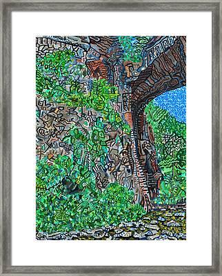 Natural Bridge Framed Print by Micah Mullen