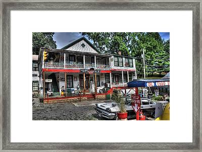Natural Bridge Station Store Framed Print