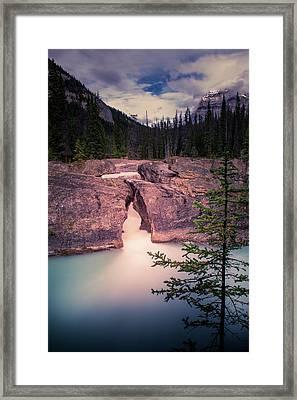 Natural Bridge Framed Print by Thomas Nay