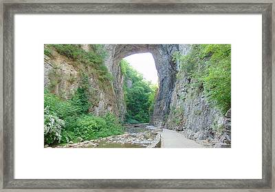 Natural Bridge Virginia Framed Print
