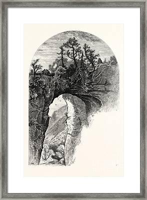 Natural Bridge, Virginia Framed Print by John Douglas Woodward