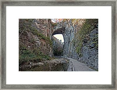 Framed Print featuring the photograph Natural Bridge Virginia by Suzanne Stout