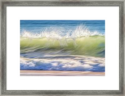 Natural Chaos, Quinns Beach Framed Print by Dave Catley