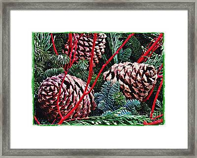Natural Christmas 4 Card 1 Framed Print by Sarah Loft