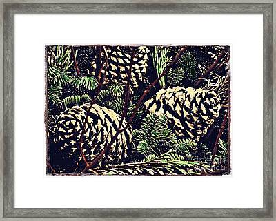 Natural Christmas 4 Card 3 Framed Print by Sarah Loft
