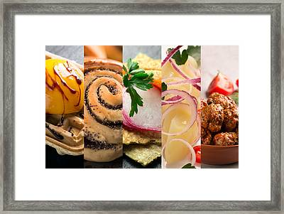 Natural Colorful Food. Photo Collage 3 Framed Print by Vadim Goodwill