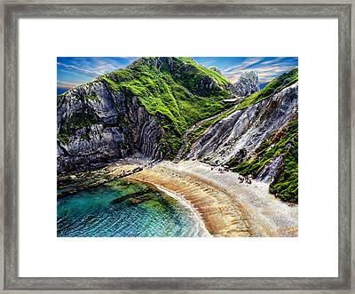 Natural Cove Framed Print by Anthony Dezenzio