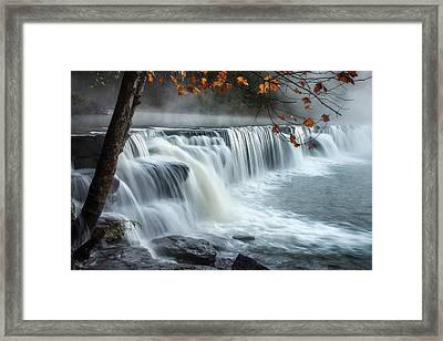 Natural Dam Falls Framed Print by James Barber