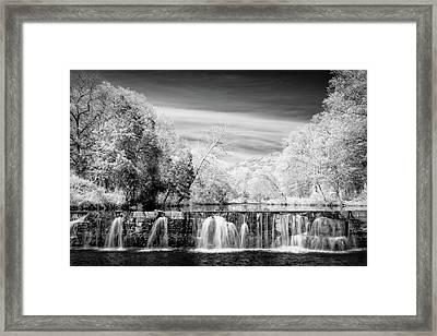 Framed Print featuring the photograph Natural Dam Film Noir by James Barber