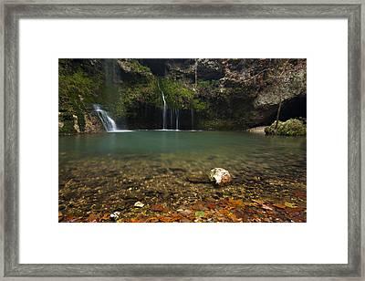 Natural Falls Framed Print