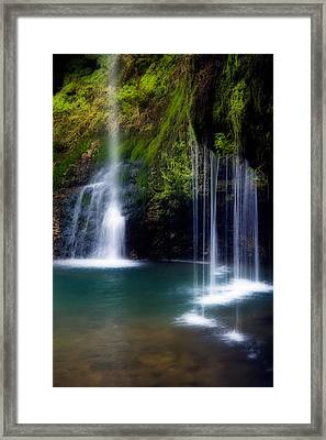 Natural Falls Framed Print