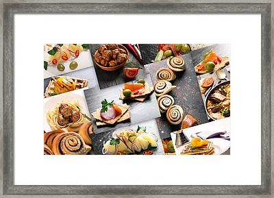 Natural Food. Photo Collage 11 Framed Print by Vadim Goodwill