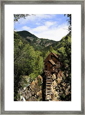 Natural Frame Around The Crystal Mill Framed Print