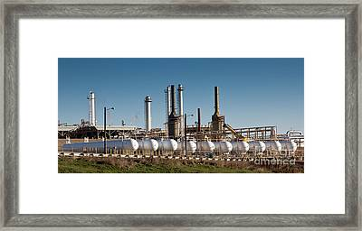 Natural Gas Processing Plant Framed Print by Inga Spence