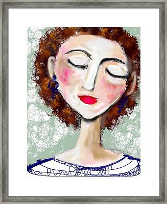 Framed Print featuring the digital art Natural Redhead by Elaine Lanoue