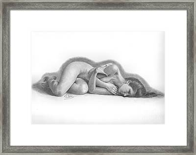 Natural Slumber Framed Print by Karen  Townsend