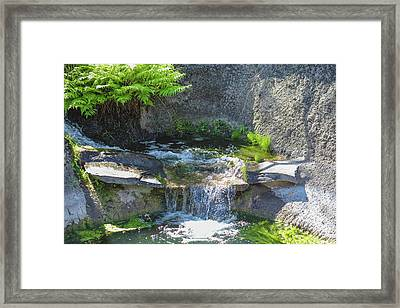 Framed Print featuring the photograph Natural Spa Zone by Raphael Lopez