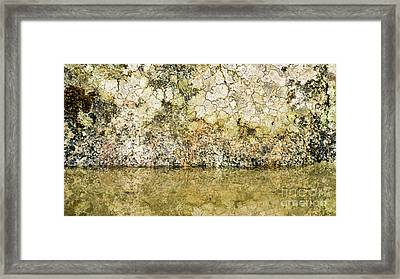 Framed Print featuring the photograph Natural Stone Background by Torbjorn Swenelius