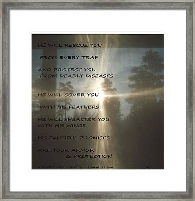 Natural Sun Cross Psalm Nlt Framed Print