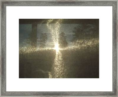 Natural Sun Cross Framed Print