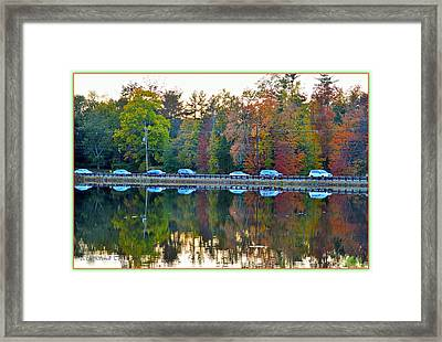 Nature And Manmade Reflections Framed Print by Sonali Gangane