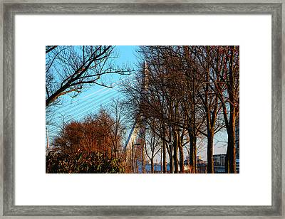 Nature In Rotterdam January Framed Print by Adriana Zoon