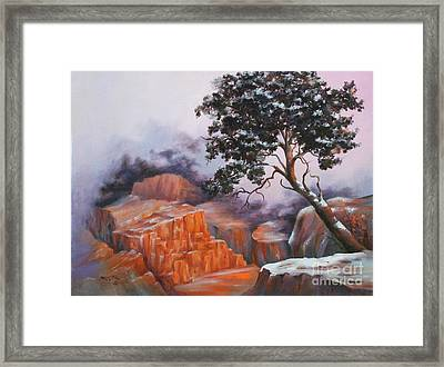 Nature At Rocky Kingdom Framed Print