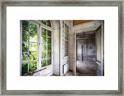 Nature Closes The Window - Urban Decay Framed Print