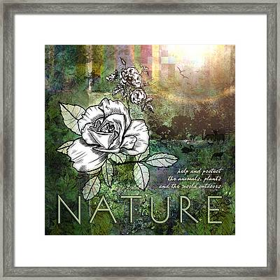 Nature Framed Print by Evie Cook