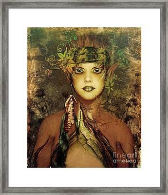 Nature Fairy Framed Print by Jutta Maria Pusl