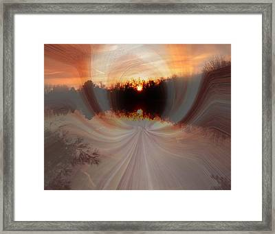 Nature Gazing At Herself Framed Print by Suzana Mestric