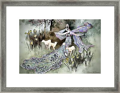 Framed Print featuring the digital art Nature Goddess by Pennie McCracken