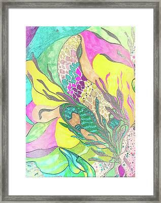 Nature Greens Framed Print by Jessica Morgan