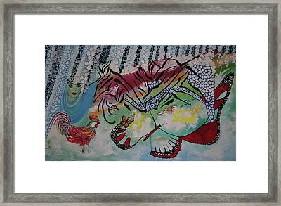 Framed Print featuring the painting Nature Harmony by Sima Amid Wewetzer