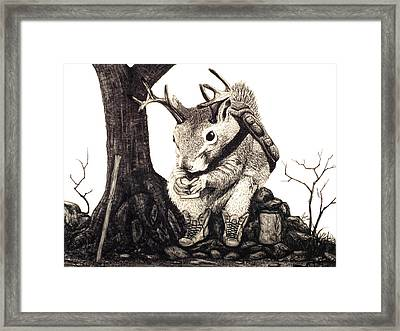 Framed Print featuring the drawing Nature Hike by Jaison Cianelli