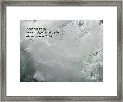 Framed Print featuring the photograph Nature Holds The Key by Peggy Hughes